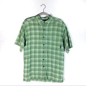 Patagonia Plaid Button Down Short Sleeve Shirt